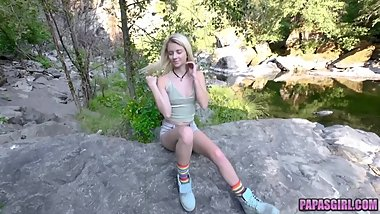 Blonde Teen Goes on a Weekend Camping Trip with Horny Step Dad