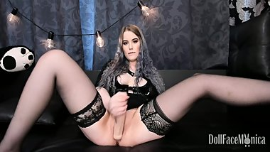 Futanari Camgirl - SQUIRT, dildo backwards insertion, dp, anal -- PREVIEW