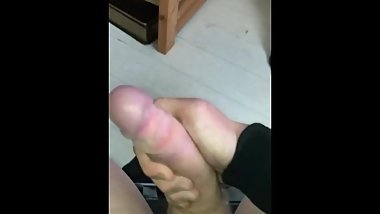 Teenage boy small dick cumshot