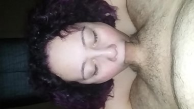 Slut Sucks Fat Cock