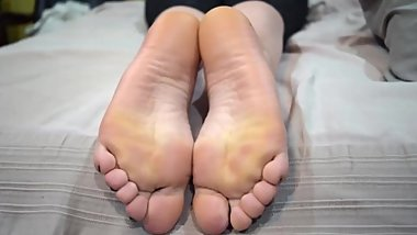 My Friend Caroline Lets Me Cum On Her Soles