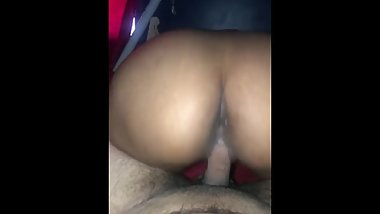 Horny Mexican loves riding me while I spank her