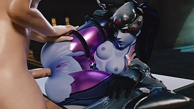 Widowmaker Tight Asshole Creampied