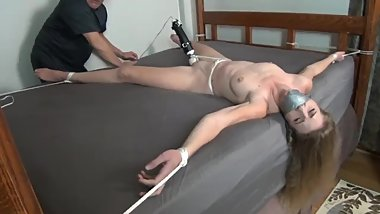 ashley vibed gagged with rubber ball duct taped in her mouth