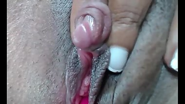 Perfect ebony pussy fingering up close