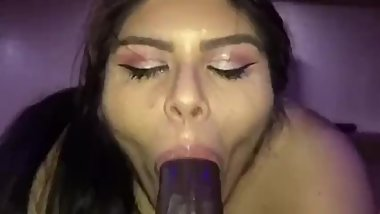Latina BBW BBC Sucking And Fucking