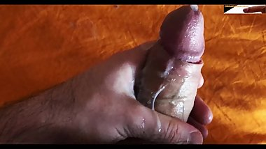 MESSY FAPPING MY CUM COVERED DICK UNTIL SPERM IS CREAMY AND THICK