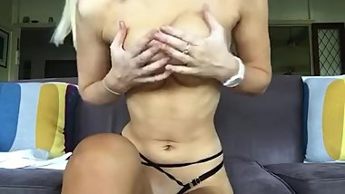 Sexy Teen Striptease JOI & Orgasm 2/3