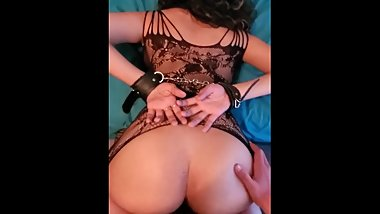 POV Amateur Latina Teen In Handcuffs and Lingerie