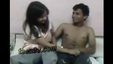 Clever desi teen is very excited to have fuck with a dumb boy with desi lov
