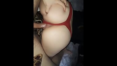 White Girl With Perfect Fat ass Rides Cock And Takes Back Shots