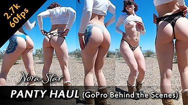 Steampunk Kitten Dances and Strips in All Her Thongs ft. Nora Star