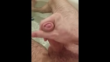Jerking and Cumming under the water in slow motion