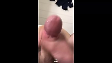 Fit Brighton lad wanks and cums on snapchat
