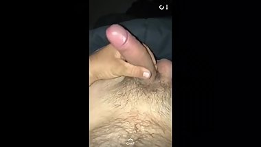 Hot chubby Aussie lad wanks on snapchat