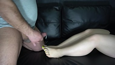 footcum and cumplay 4K