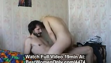 Russian Bearded Daddy Sex Lessons With Not His Blonde Girl