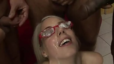 FOUR SENIORS BUKKAKE TEEN SLUT