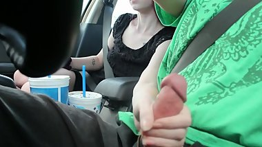 Young Hitchhiker Gives Handjob